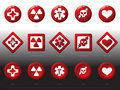 Red buttons - health signs Stock Images