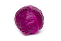 Red cabbage fresh vegetable on white background Royalty Free Stock Photography