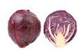 Red cabbage and slice isolated on a white background Stock Images
