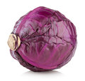 Red cabbage on white background Stock Images