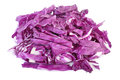 Red cabbage on white background shredded Stock Photo
