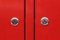 Red cabinet door Royalty Free Stock Photo