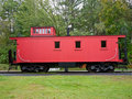 Red Caboose Stock Image