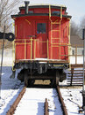 Red Caboose Royalty Free Stock Photo