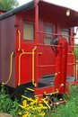 Red caboose carriage Stock Image