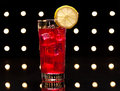 Red Campari Cocktail Royalty Free Stock Photo