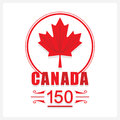 Red Canada 150 maple leaf emblem icon