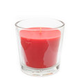 Red Candle in Glass Royalty Free Stock Photo