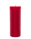 Red candle isolated in front of white background Royalty Free Stock Photo