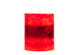 Red candle isolated on a white background Stock Photo