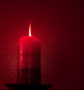 Red Candle Light Royalty Free Stock Photo