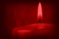 Red candle silhouette on old paper Royalty Free Stock Photo