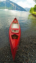Red canoe Royalty Free Stock Images