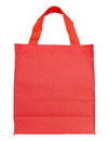 Red canvas shopping bag Royalty Free Stock Photo