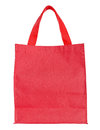 Red canvas shopping bag isolated on white Royalty Free Stock Photo