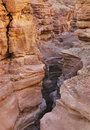 Red canyon in mountains of Eilat Royalty Free Stock Photo