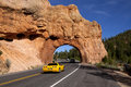 Red Canyon Roadway Arch Stock Photos