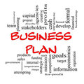 Red Caps Business Plan Word Cloud Concept Royalty Free Stock Image