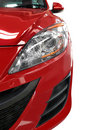 Red Car Detail Half Front Royalty Free Stock Photo