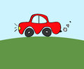 Red car doodle clipart of Royalty Free Stock Images