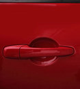 Red Car door handle Stock Image