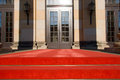 Red carpet and entrance door Royalty Free Stock Photo