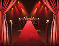 Red carpet entrance Royalty Free Stock Photo