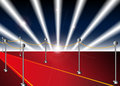 Red Carpet Entrance For A Premiere Royalty Free Stock Photo