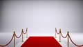 The red carpet. Gray background Royalty Free Stock Photo