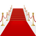 Red carpet with ladder Stock Photography