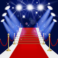 Red carpet with ladder Stock Image