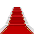 Red carpet with ladder Royalty Free Stock Photos