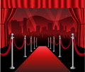 Red carpet movie premiere elegant event hollywood Royalty Free Stock Photo