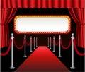 Red carpet movie premiere elegant event red