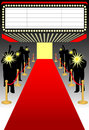 Red carpet premier/ai Royalty Free Stock Photo