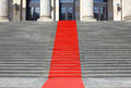 Red carpet stairs Royalty Free Stock Photo