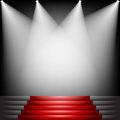 Red carpet and stairs Royalty Free Stock Photo