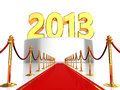 Red carpet to new year Royalty Free Stock Images