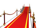 Red carpet to stair Stock Images