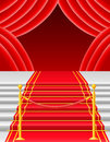 Red carpet with turnstile vector illustration Royalty Free Stock Photo