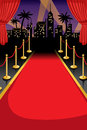 Red carpet a vector illustration of with copyspace Royalty Free Stock Photos