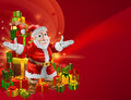 Red cartoon Santa Background Stock Photography