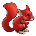 Red Cartoon Squirrel Royalty Free Stock Photos