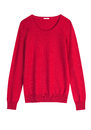 Red cashemire or wool sweater isolated on wmite background Royalty Free Stock Photos
