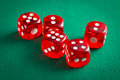 The red casino dice Royalty Free Stock Photo
