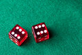 Red casino dices Royalty Free Stock Photo