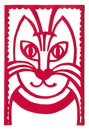 Red cat portrait artistic applique of a Royalty Free Stock Photo