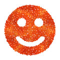 Red caviar in the form of a smile Royalty Free Stock Photos