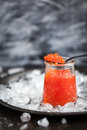 Red caviar in a glass jar Royalty Free Stock Photo