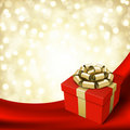 Red celebration gift box Royalty Free Stock Photography